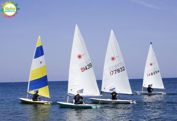 Dinghy sailing in Malta
